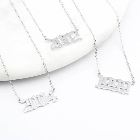 Silver Birth Date / Special Date Necklace