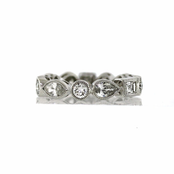 13 = 2.48 4.65gr Size 6.5 18K White Gold Eternity Band BD0212