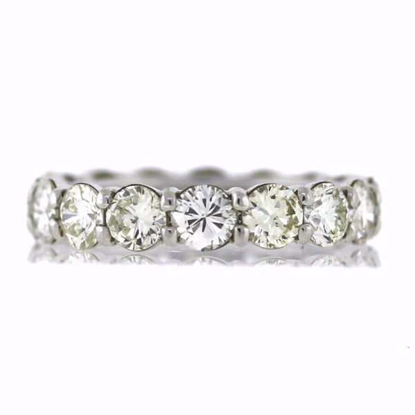 16 Round Brilliant = 4.50ct J SI1 New Style 5.7gr Platinum Eternity Band BD0260