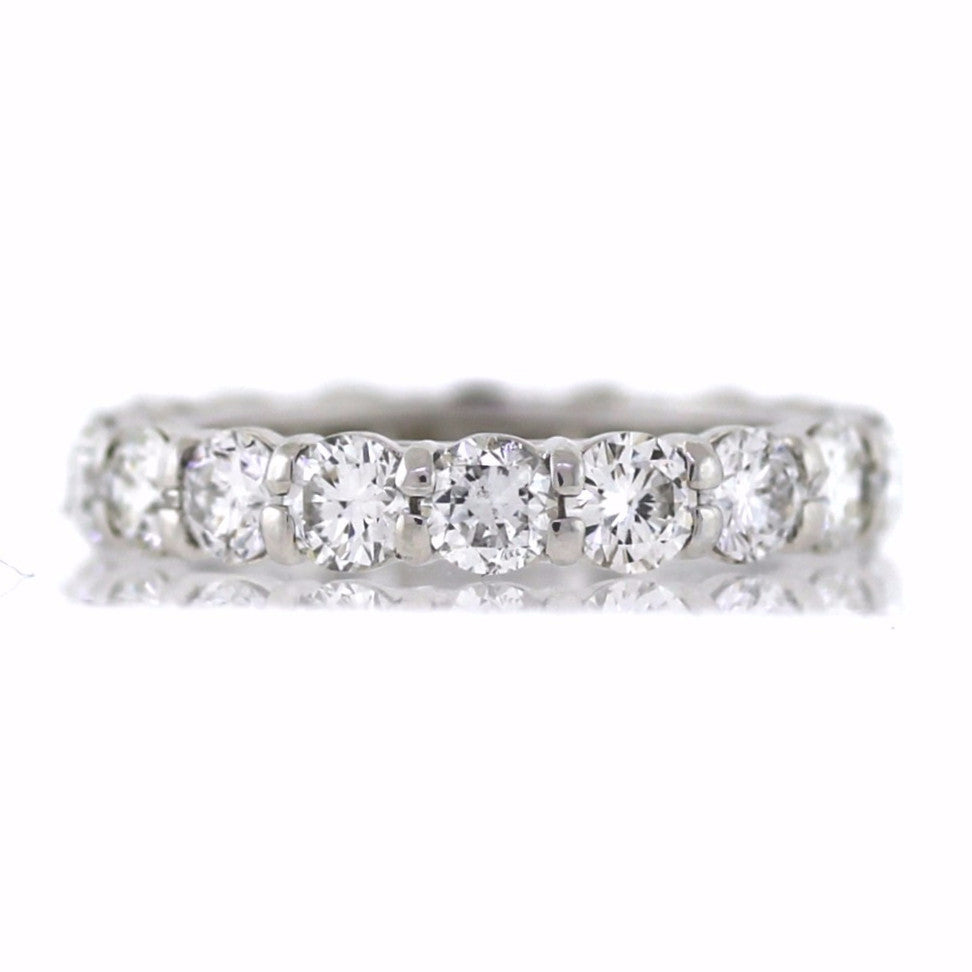 18 Round Brilliant = 3.58ct G SI1 New Style 5.9gr Platinum Eternity Band BD0436