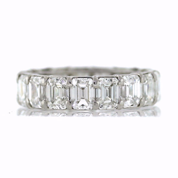 17 Emerald Cut = 9.10ct E VS1 New Style Platinum Eternity Band BD0447
