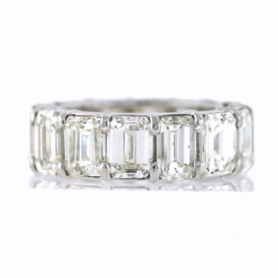 14 Emerald Cut = 14.30ct New Style 8.8gr Platinum Eternity Band BD0525