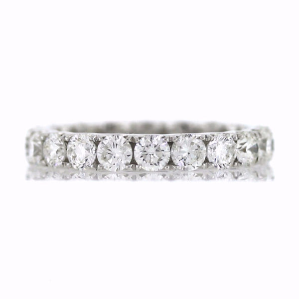 20 Round Brilliant = 2.73ctw 2.36gr U Style 18K White Gold Eternity Band BD0544