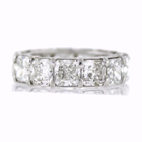 13 Radiant Cut = 13.15ct G H SIALL GIA Platinum Eternity Band BD0569