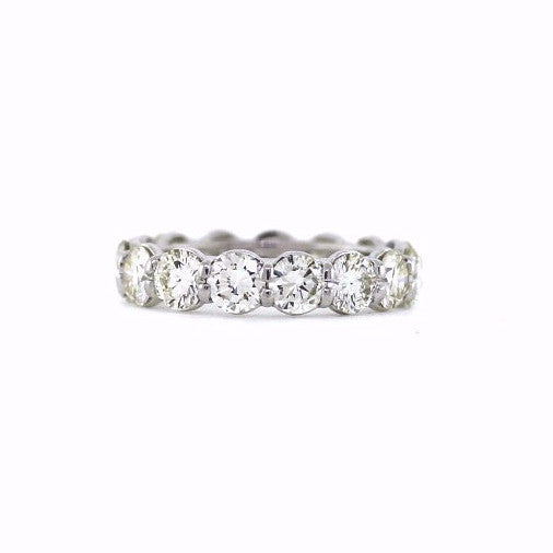 15 Round Brilliant = 5.05ctw Platinum Eternity Band BD0592