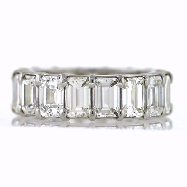17 Emerald Cut = 8.19ctw Platinum Eternity Band BD0637