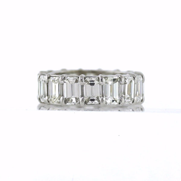 16 Emerald Cut = 8.68ctw Platinum Eternity Band BD0661