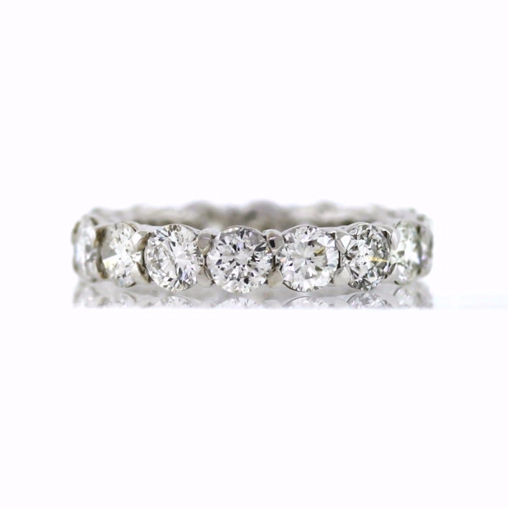 16 Round Brilliant = 4.49ctc 4.3gr 18K White Gold Eternity Band BD0673