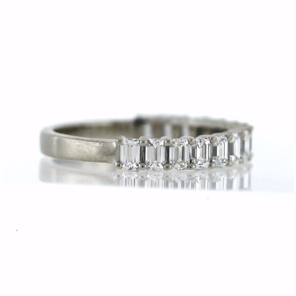 15 G VS1 Emerald Cut Diamonds =1.26ct, 3.31g, Platinum Band BD0789
