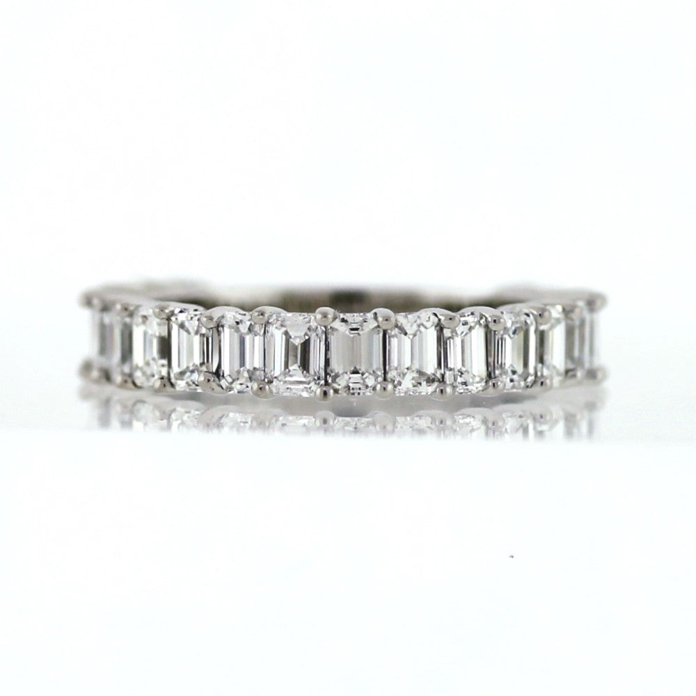 20 European Cut Diamonds = 1.99ct G VS1 4.2gr Platinum Band BD0848