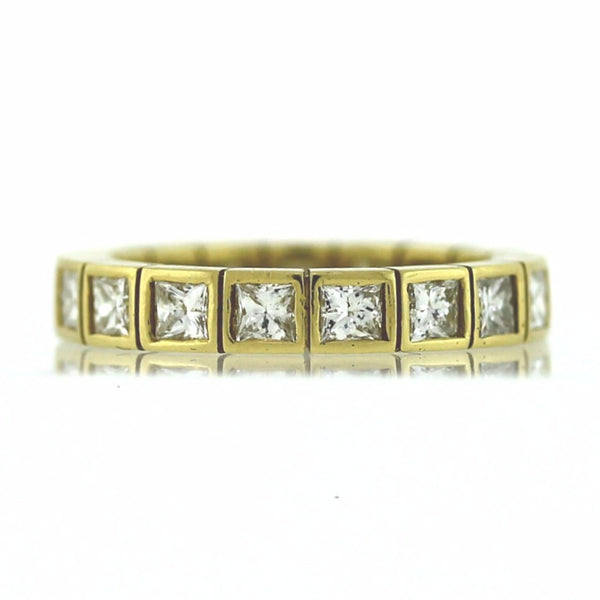 17 Princess Cut = 1.88ct G SI1 18K Yellow Gold Eternity Band BND1225