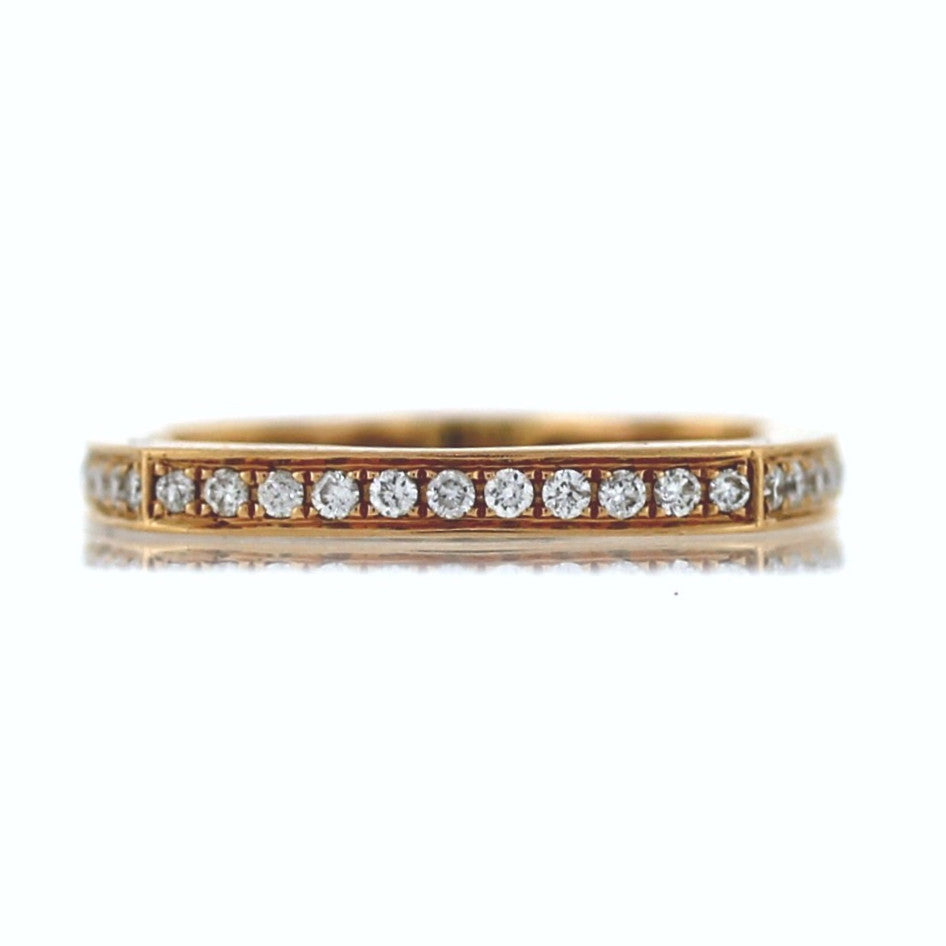 44 Round Brilliant = .50ctw 3.61gr Size 6 L1212269 14K Rose Gold Eternity Band BND1422