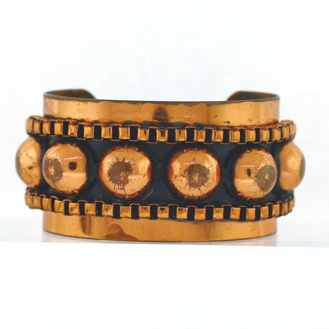 Estate Copper Cuff 71.2gr Bracelet BR2407