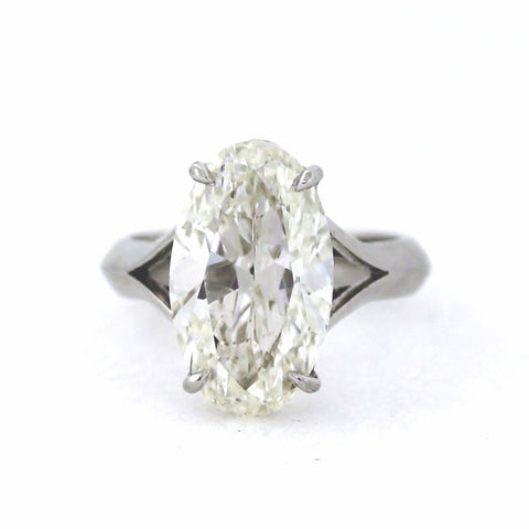 Solitaire 4.5gr 7.08 J SI1 GIA = 2165944435, Platinum Lady's Ring LR2020, DX0795