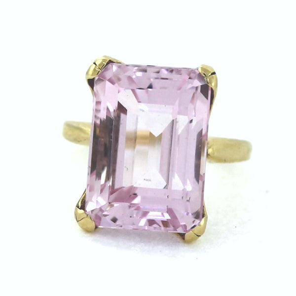 Estate Morganite Solitaire 10gr 14K Yellow Gold Lady's Ring LR2272