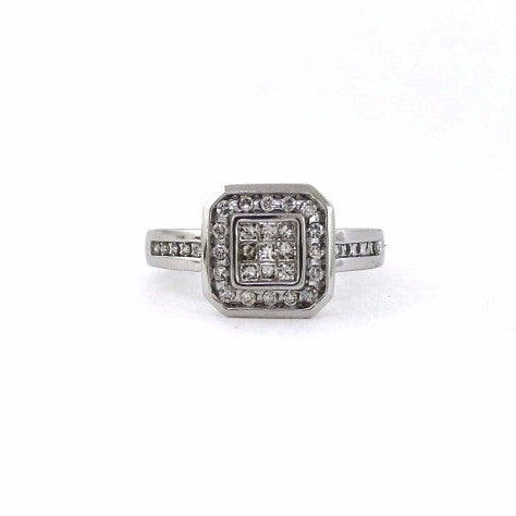 Estate .60ctw 4.0gr 14K White Gold Lady's Ring LR2328