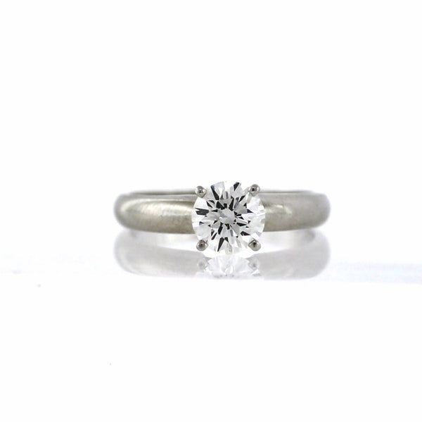 Estate Cathedral Solitaire Platinum Lady's Ring LR2595