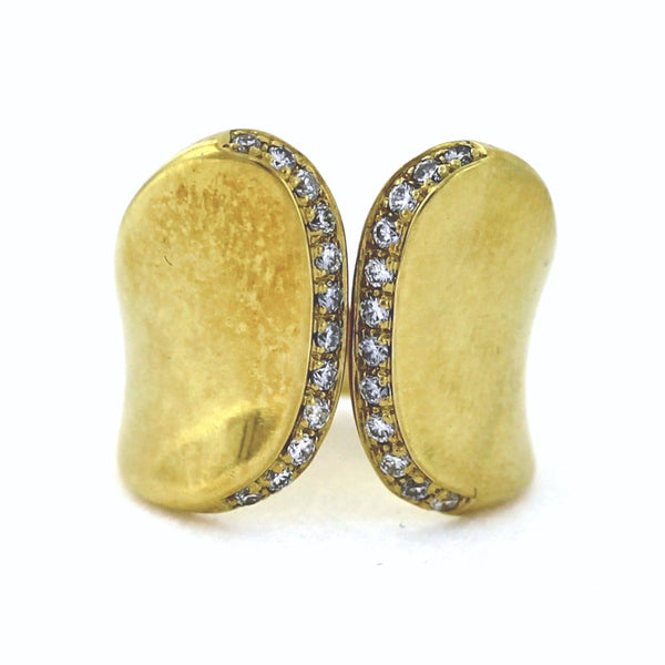 Estate 24 Round Brilliant = .50ctw 19.3gr Robert Lee Morris 18K Yellow Gold Lady's Ring LR2738