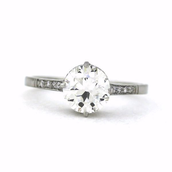 Vintage style Solitaire Platinum Lady's Ring LR2750