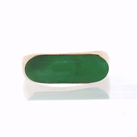 Estate Jade 2.0gr 14K Yellow Gold Ring LR2784