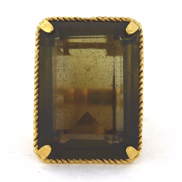 Estate Smokey Quartz. 14.9gr 14K Yellow Gold Lady's Ring LR2821
