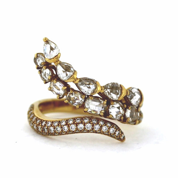 Estate Diamond Snake 2.34ctw Approx. Weight 6.2gr 18K Yellow Gold Lady's Ring LR3076