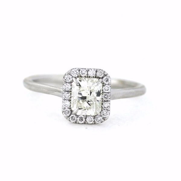 18 Round Brilliant Cut Diamonds = .15ctw & 1.01 H SI1, 18K White Gold Lady's Ring LR3131, D14821