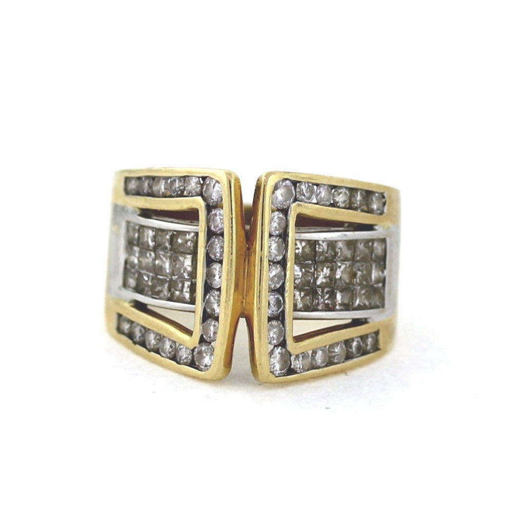 Estate 61 = 2.35cts Invisible Set and Channel 9.2gr 14K Yellow Gold Lady's Ring LR3174