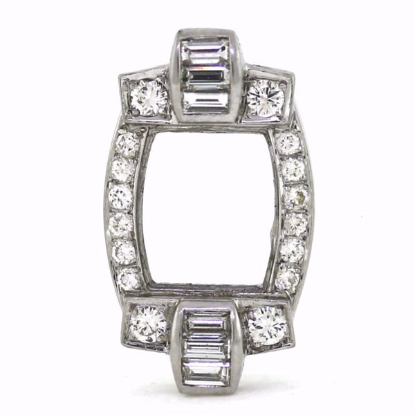 16 Round Brilliant = .40 16 Tapered Baguette = .45 5.6gr Platinum Lady's Ring LR3187