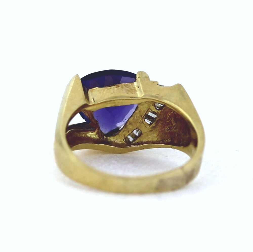 cocktail white gold jewlery ring carat trillion tanzanite pin