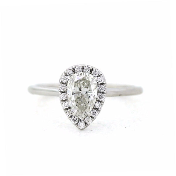 17 Round Brilliant Diamonds = 0.13ct G VS1 & 1.01 H SI2 GIA = 5171596434, 6.5gr 18K White Gold Lady's Ring LR3327, D17220