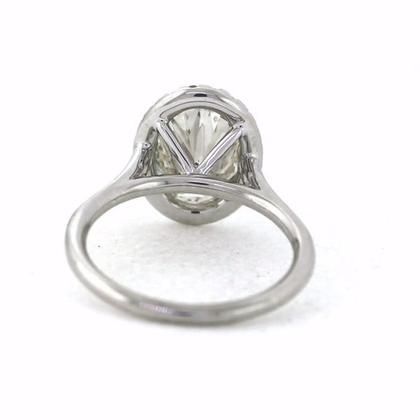 22 Round Brilliant = 0.23ct G VS1 4.2gr & 2.51 J SI2 IGI = 141423824, 18K White Gold Lady's Ring LR3329, DS5735A