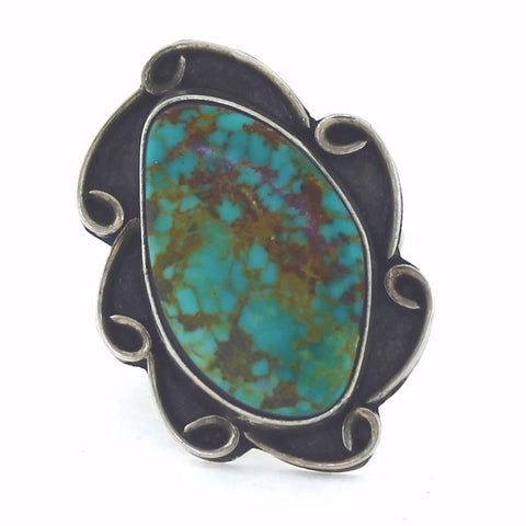 Estate Royston Turquoise signed GS 7.0gr, Sterling Silver Ring LR3420