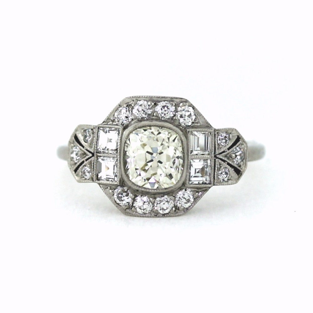 prong diamond ring rings in gold solitaire cut engagement white bypass cushion