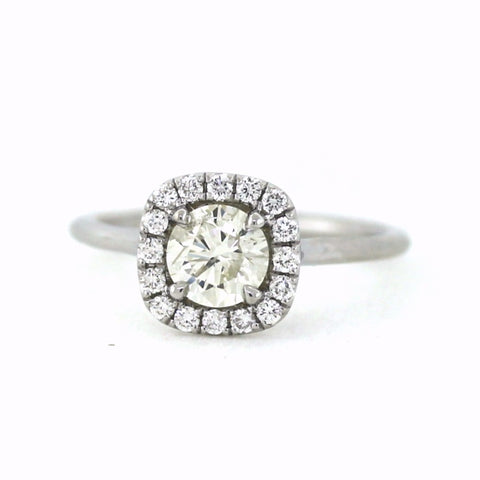 .22cts & .78 Round Brilliant Cut I I1, 18K White Gold Lady's Ring LR3508, D16574