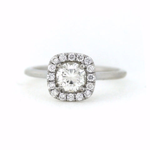 .22cts & .72 Round Brilliant Cut H SI1, 18K White Gold Lady's Ring LR3510, D17326