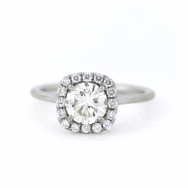 .22cts & 1.20 Round Brilliant Cut I SI1, 18K White Gold Lady's Ring LR3512, D17053