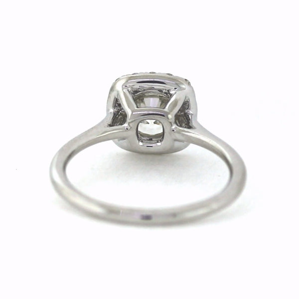 .22cts & 1.01 Round Brilliant Cut Diamond K-SI1 GIA = 1176490029, 18K White Gold Lady's Ring LR3516, D17110
