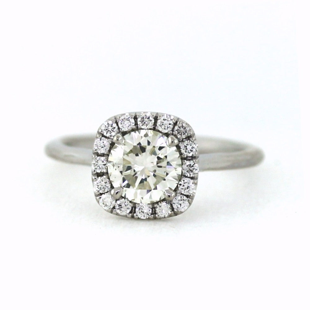 .22cts & 1.18 Round Brilliant Cut J SI2, 18K White Gold Lady's Ring LR3517, D17312