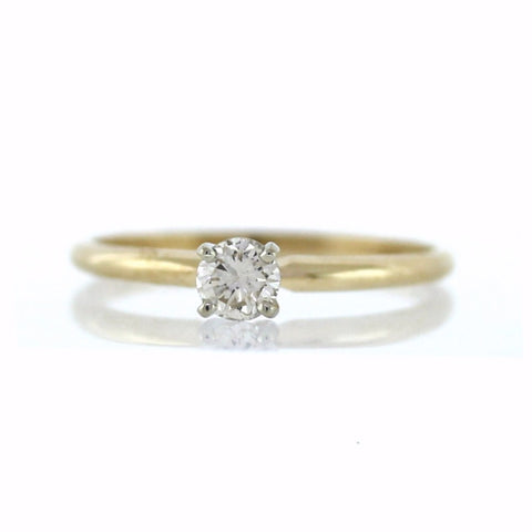 .25ct solitaire, 1.5g, 14K Yellow Gold Ring LR3526