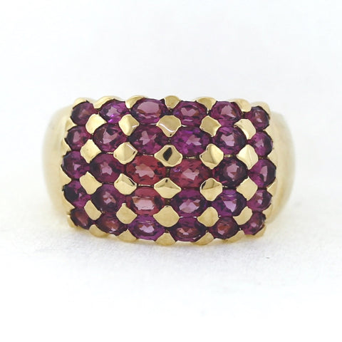 Estate Oval Purple Garnet 4.00ctw Approx. 16.2gr 14K Yellow Gold Band MN0144