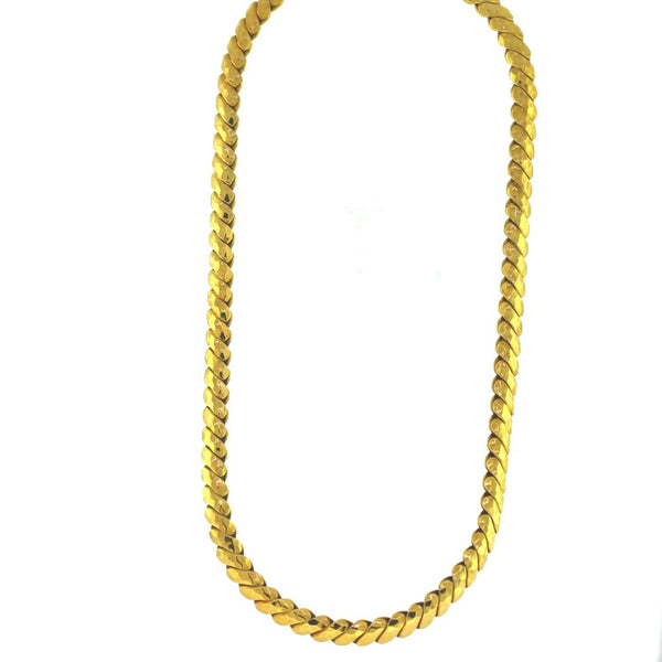 "Estate ""Kurt Wayne"" Solid S Hammered finish 80gr 16"" signed 18K Yellow Gold Necklace NK2694"