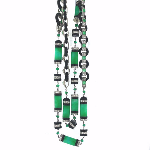 Diamonds = 7.50ctw Onyx, Jade & Enamel 28