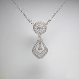 "1.70ctw Dangle 19.5"" 8.8gr Platinum Necklace NK3031"