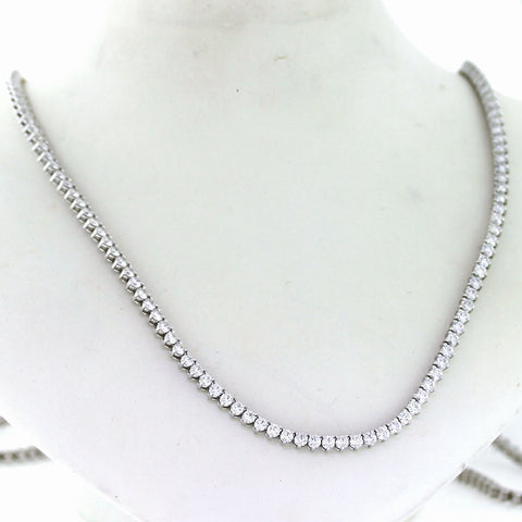 Estate Endless Tennis necklace Approx. 240 Round Diamonds = 28.75 ctw 31.5