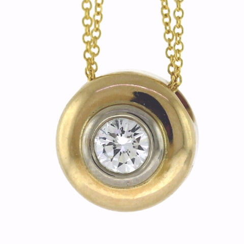 .50ct pendant, 3.3gms, 14K Yellow Gold Necklace NK3272