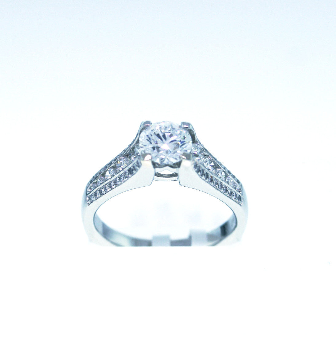 "Estate ""Ritani"" 54 Round Brilliant = 1.00ctw Platinum Lady's Ring SMNT1721"