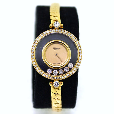 Estate Chopard Happy Diamond 250553 20-4311 YDB Box and Papers 18K Yellow Gold WA0450