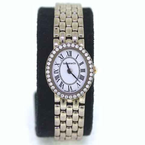 Estate Tiffany & Co. DB .75ctw White Roman Dial 31gr #940591064 No Box and Papers 14K White Gold WA0528