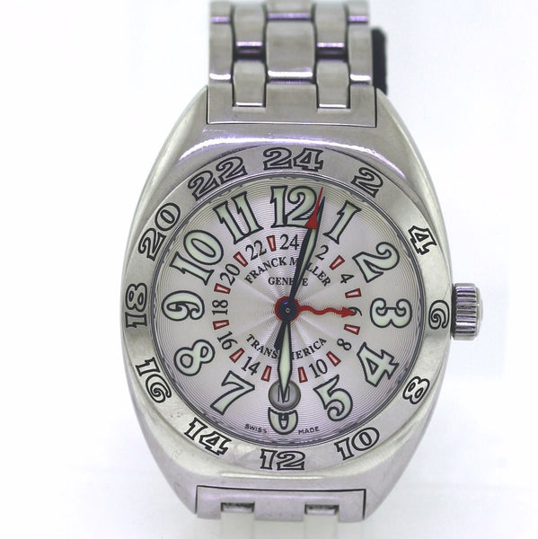 Estate Franck Mueller Transamerica 2000WW #342 No Box and Papers Stainless Steel WA0557